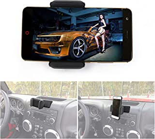 buyinhouse PDA/ MP4/Phone GPS Metal Base Mount Holder Mount Phone Kit for Jeep Wrangler JK 2012-2017