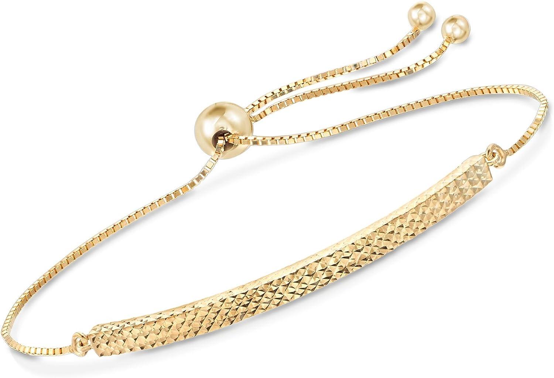 Ross-Simons 14kt Yellow Gold Bracelet Ranking TOP14 Bolo Diamond-Cut Challenge the lowest price