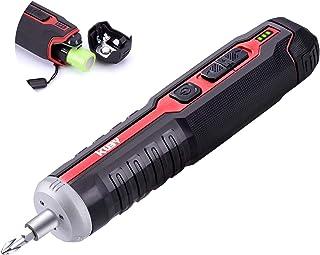 Ikuby Pushdrive Cordless Screwdriver 2000mah Removable Li-Ion Battery 4V Electric Screwdriver with Circuit Sensing Functio...