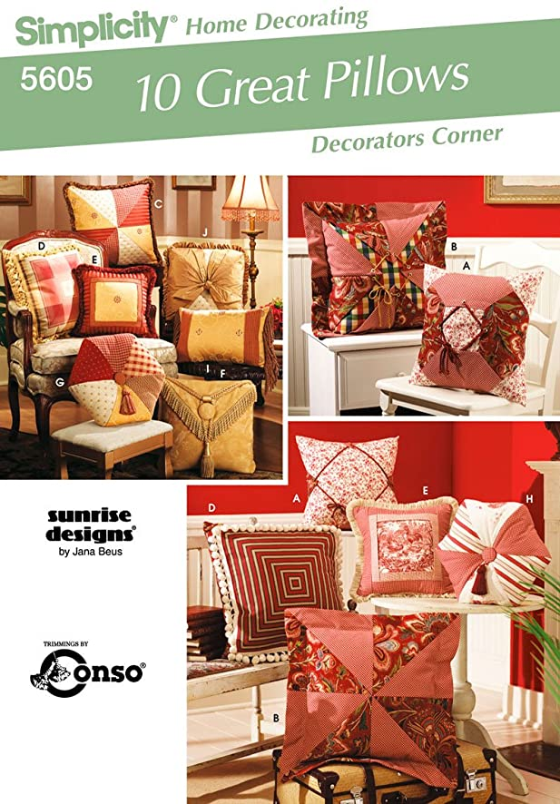 Simplicity Sewing Pattern 5605 Home Decorating, One Size