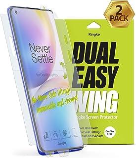 【2枚】【Ringke】 OnePlus 8 Pro 保護フィルム スクリーン保護フィルム Ringke Dual Easy Full Cover Wing Film 前面フルカバレッジ ソフトフィルム [ケース干渉せず/貼り付け簡単/3D T...