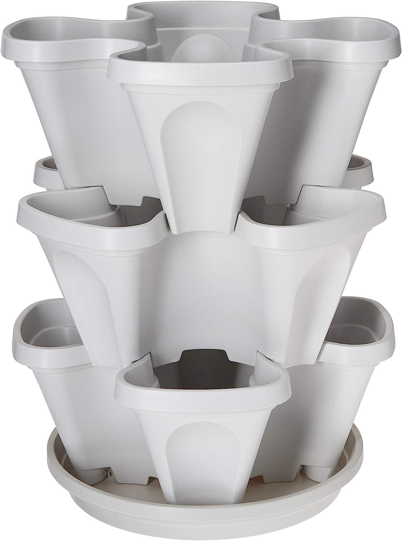 3 Special price Tier Stackable Garden - Bombing new work Indoor Vertical Planter Outdoor Set