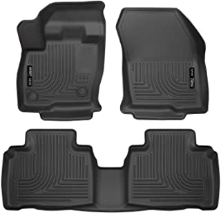 Husky Liners - 98781 Fits 2015-20 Ford Edge Weatherbeater Front & 2nd Seat Floor Mats Black
