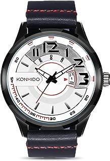 Men's Wrist Watch Analog Quartz Movement Watch Leather Band Calendar Date Window Male Waterproof Military Watches Casual Business Sports Fashion
