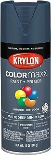 Krylon K05604007 COLORmaxx Spray Paint, Aerosol, Deep Denim Blue