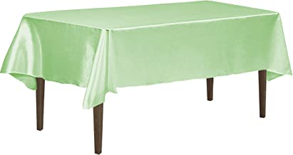 LinenTablecloth Rectangular Satin Tablecloth, 60-Inch by 126-Inch, Hemlock