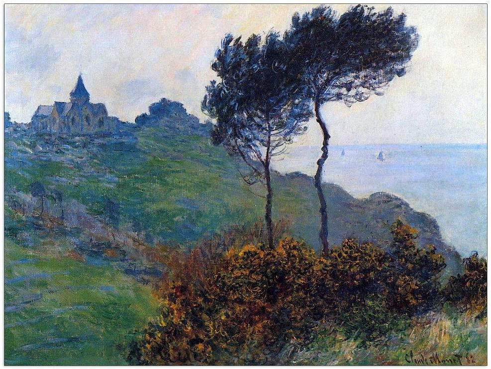 ArtPlaza Monet Claude - Church Panel Decorative Varengeville at Cheap mail order specialty Max 69% OFF store