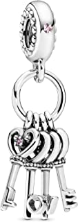 Pandora Jewelry Keys of Love Dangle Crystal and Cubic Zirconia Charm in Sterling Silver
