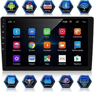 ANKEWAY 10,1 Pulgadas Android 9,1+RDS Radio de Coche 2 DIN Navegación GPS 1080P HD Pantalla Táctil WiFi/Bluetooth Manos Li...