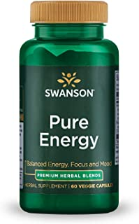 Sponsored Ad - Swanson Pure Energy Metabolism Concentration Mental Focus Mood Support Stress Management Adaptogenic Herbs ...