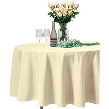 Solid Soft Dinner Table Cover for Buffet Table Chocolate Table Cloths VEEYOO 108 Inch Round Tablecloth 100/% Polyester Circular Wrinkle Free Table Cloth Wedding Parties and Dinner