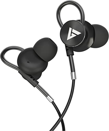 Boult Audio BassBuds Loop in-Ear Wired Earphones with 12mm Powerful Driver for Extra Bass with Customizable Ear Loop ...