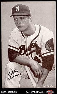 1962 Exhibits Stat Back Eddie Mathews Milwaukee Braves (Baseball Card) Dean's Cards 6 - EX/MT Braves