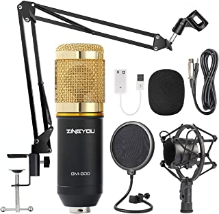 ZINGYOU Condenser Microphone Bundle, BM-800 Mic Kit with...