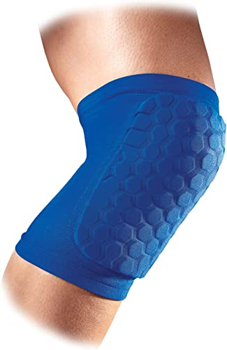 McDavid 6440 Hexpad Compression Support Knee Elbow Shin Pads 1 Pair Royal Medium