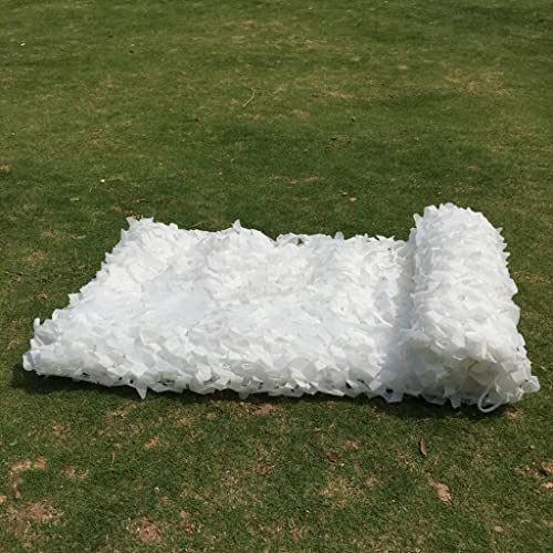 ACZZ Bache blanche camouflage chasse   Filet de camouflage renforcé de polyester Oxford   Filets de maille d'armée de filets de prougeection solaire de jungle pour le camping,5M × 6M