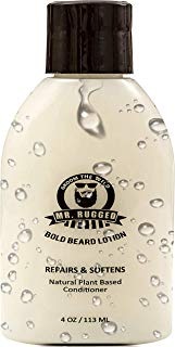 Mr. Rugged Beard Lotion Conditioner - Repair Soften & Protect Facial Hair - Luxurious Beard Conditioner - Healthy Beard Growth - Paraben & Sodium Chloride Free – Better Then Beard Oils or Beard Balms