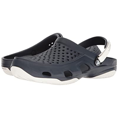 Crocs Swiftwater Deck Clog (Navy/White) Men