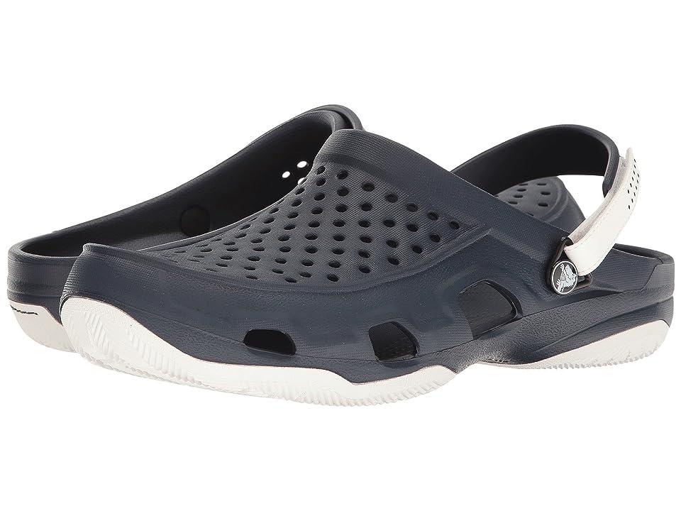 Crocs Swiftwater Deck Clog (Navy/White) Men
