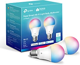 Kasa Smart Light Bulbs, Full Color Changing Dimmable Smart WiFi Bulbs Works with Alexa and Google Home, A19, 9W 800 Lumens...