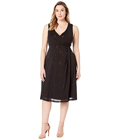 Kiyonna Spotlight Cinch Dress (Ruby/Onyx) Women