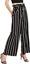 ladies wide striped trousers