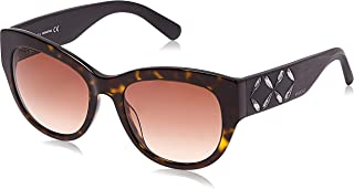 Swarovski Sk0127-52F-Braun Gafas de sol, Marrón (Braun), 54.0 para Mujer