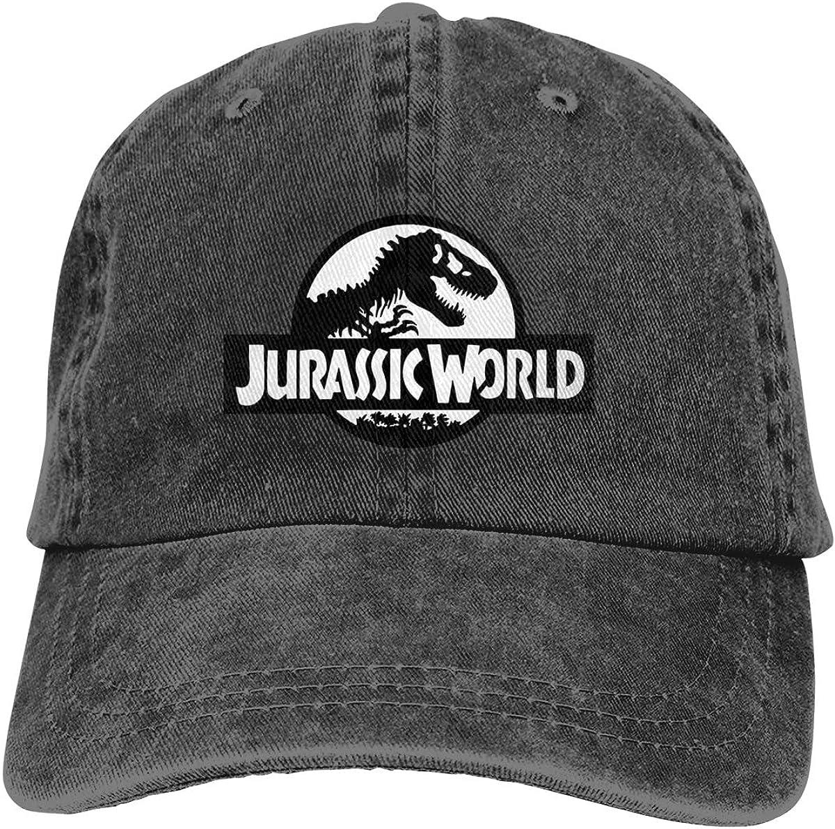 LeoBird Jur_Assic World Logo Unisex 100% Cotton Cowboy Caps Adjustable Unstructured Caps Suncreen Baseball Hats