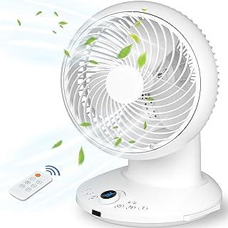 Ventilateur de Bureau Ventilateur Turbo, Ventilateur à Circulation d'air Portable, Ventilateur Silencieux Oscillant avec T...