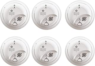 First Alert BRK SC9120B-6 Hardwired Smoke and Carbon Monoxide (CO) Detector with Battery Backup, 6 Pack