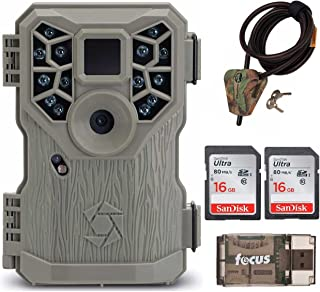 Stealth Cam PX14X P Series Game/Trail Camera (10MP) + Two 16GB Cards + Cable Lock + Focus USB Reader