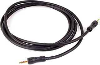 DURAGADGET Cable De Audio para Auriculares Creative Sound Blaster EVO Wireless, EVO ZxR, EVO - con Conexión de 3.5mm Y Bañado En Oro