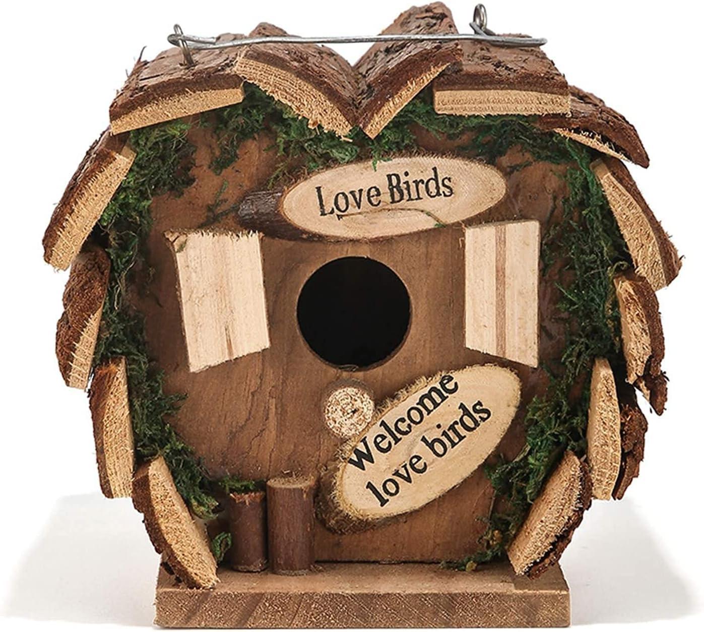 TEAYASON Bird House Wood Nest Raleigh Mall Birdhouse C Garden Raleigh Mall