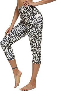 OYANUS High Waisted Yoga Pants for Women Capri Workout Leggings for Women with Pockets Tummy Control Running Leggings