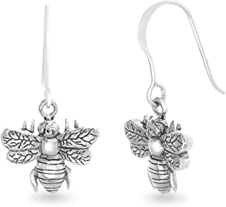 Sterling Silver 3D Mini Seahorse Drop Dangle Earrings On French Wires