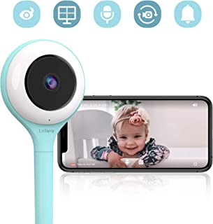 Lollipop HD Alexa WiFi Video Baby Monitor (Turquoise)- Supports 2 Cameras and Up, Night Vision, Noise & Crying Detection, 2-Way Talk Back, Wall Mount Included- Baby Boy Girl Shower Gift US