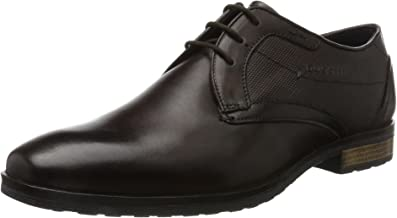 Bugatti Men Lace-Up Shoes Brown, (Dark Brown) 311374011100-6100