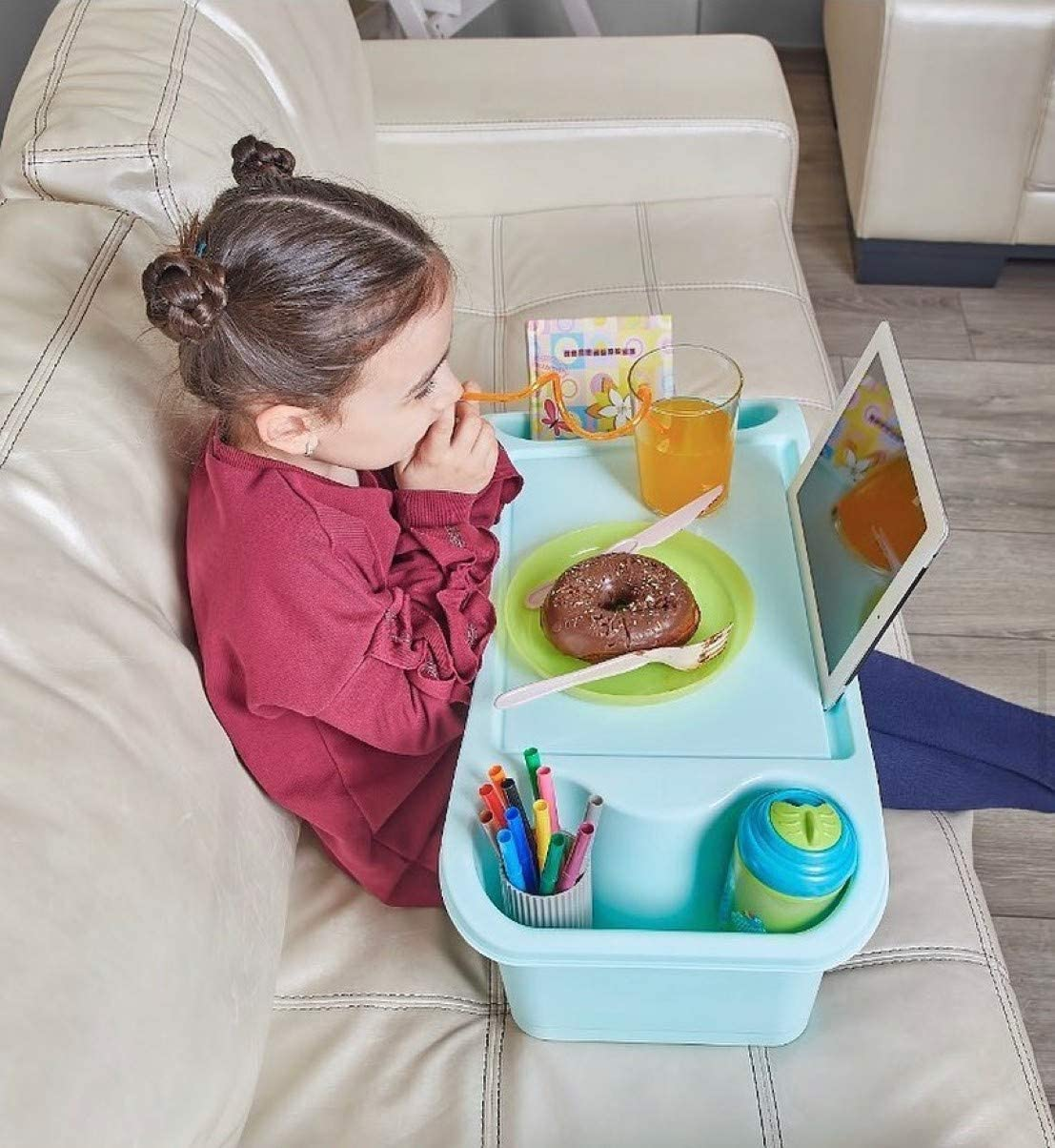 Indoor /& Outdoor Multifunctional Activity Tray for Kids Toddlers Boys Girls Sofa Table Tray Large Student Desk Bed Multi Purpose Travel Tray Blue Portable Children Activity Table