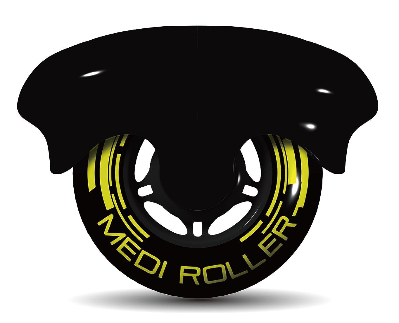 ファッション毎回ブラストMEDI ROLLER (メディローラー) 巾着付き 筋肉のコリを点で押すセルフローラー (ブラック)