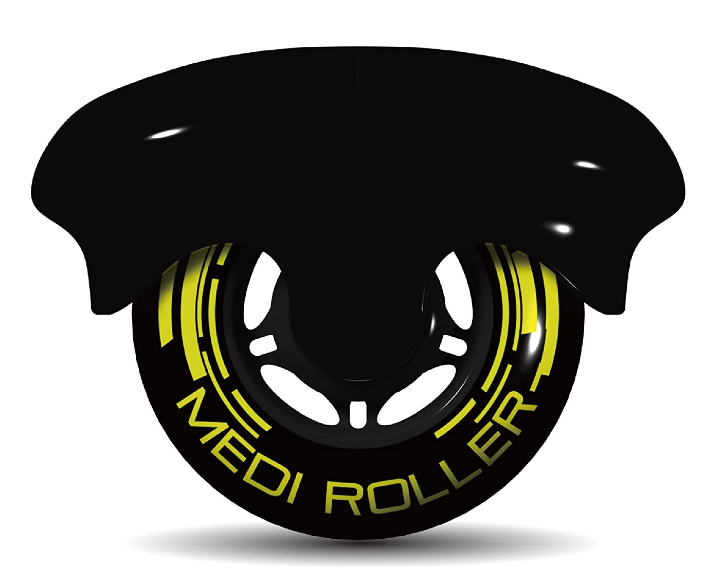 どんよりしたパラシュート送金MEDI ROLLER (メディローラー) 巾着付き 筋肉のコリを点で押すセルフローラー (ブラック)