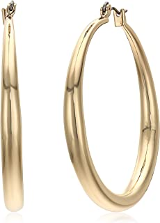 9d52be497 Kenneth Cole New York Women's Large Gold Hoop Earrings, Shiny Gold, One Size