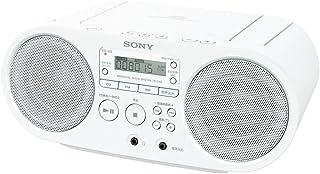 ソニー SONY CDラジオ ZS-S40 : FM/AM/ワイドFM対応 ホワイト ZS-S40 W