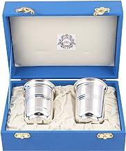 Msa Jewels 92.5 Hallmark Certified Silver Glass Set (8.75 CM X 6.25 CM, 79 GM)