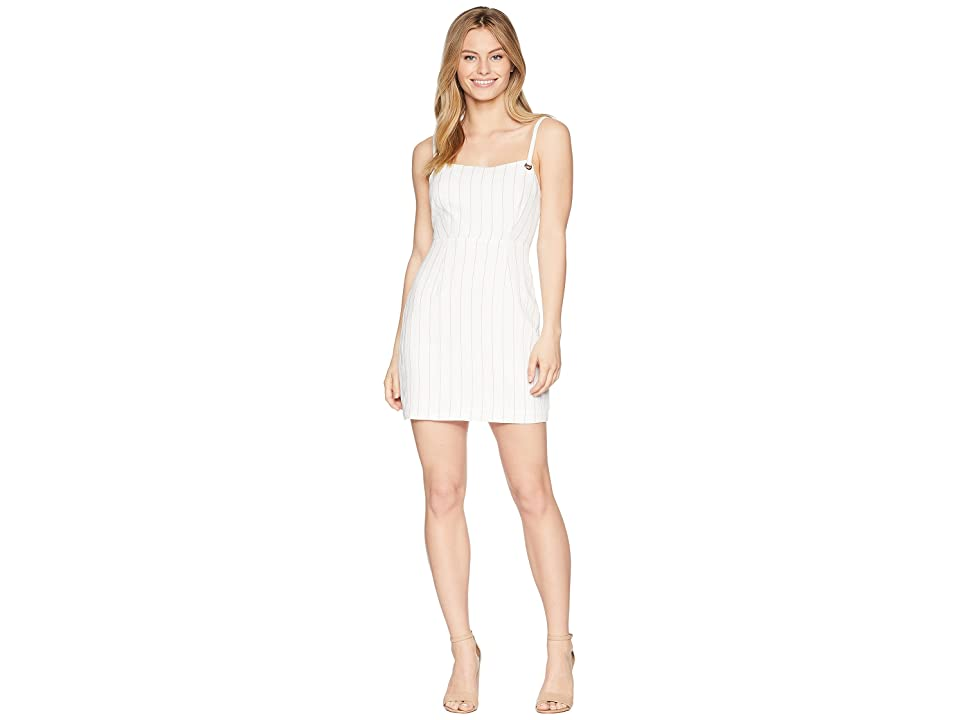 ASTR the Label Heidi Dress (White/Taupe Stripe) Women