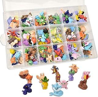 AnyGo Animal Mini Action Figures Toys Set Storage for Kids Christmas Party Decoration Boys Girls Children Birthday Toy 152pcs