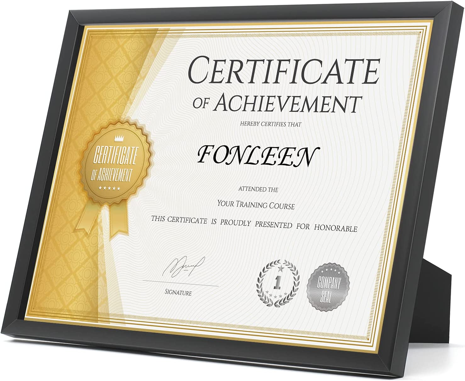Fonleen Black Department store Diploma Max 48% OFF Frames Picture Frame 8.5x11 for Certifica