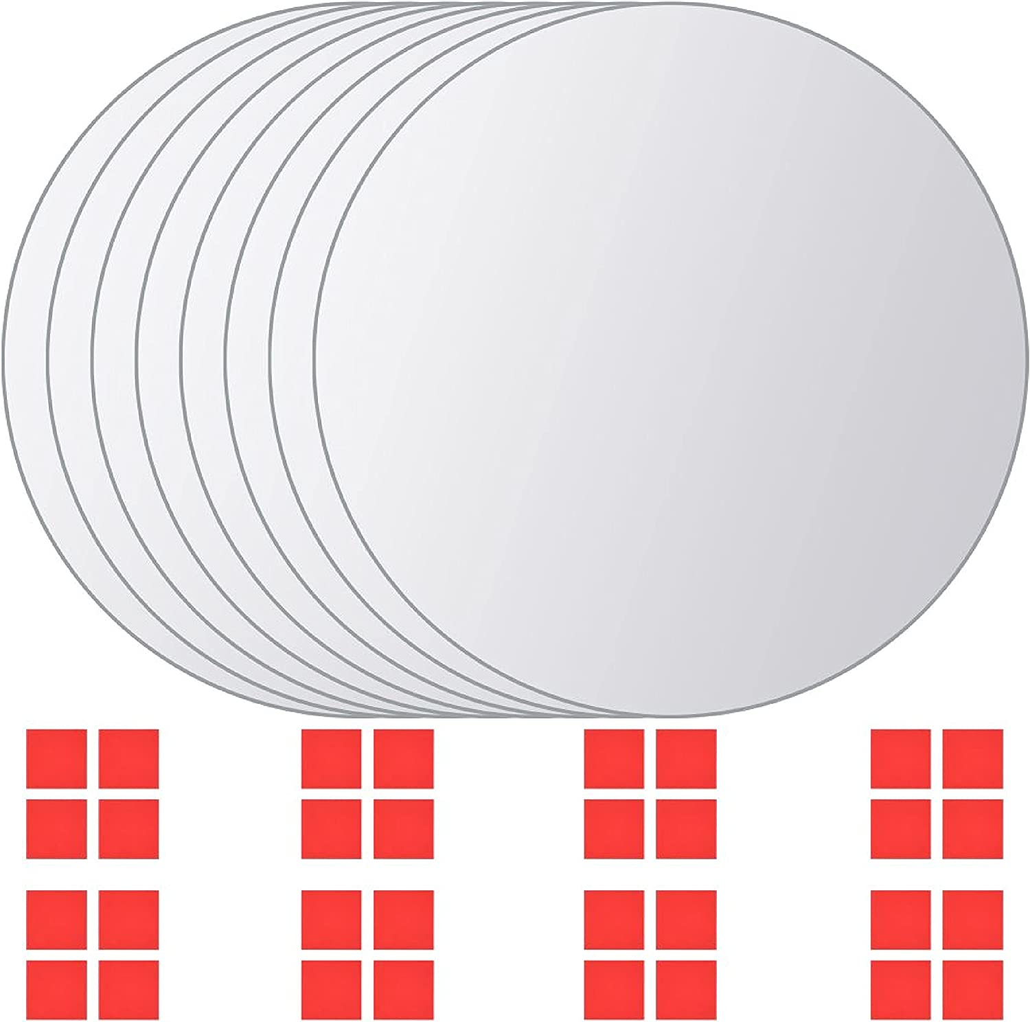 Mirror 8 pcs Tiles Glass New At the price of surprise life Round