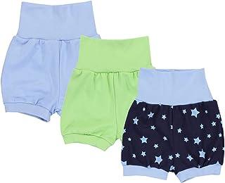TupTam Baby Unisex Kurze Pumphose Sommershorts 3er Pack