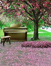 A.Monamour Piano Bajo Flor Árboles Campo Tierra Naturaleza Paisaje 5X7Ft Fotografía Telón De Fondo Vinilo