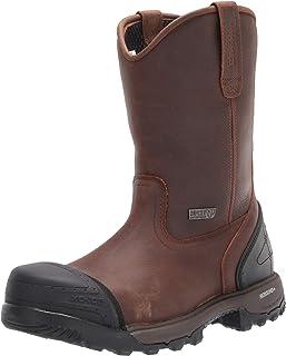 حذاء عمل ROCKY Rocky XO-Toe مركب مقاوم للماء سهل الارتداء للرجال برقبة متوسطة الساق